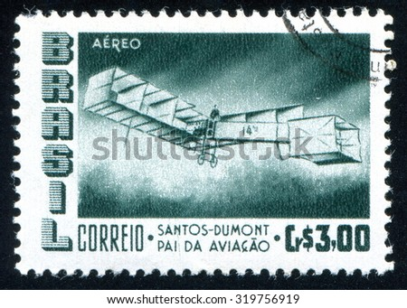 BRAZIL - CIRCA 1956: stamp printed by Brazil, shows  airplane, circa 1956
