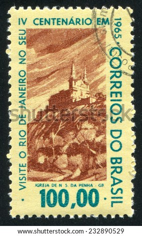 BRAZIL - CIRCA 1965: stamp printed by Brazil, shows  castle, circa 1965