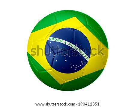 Brazil Football Flag - stock photo