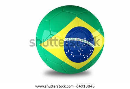 Brazil Football isolated on a white