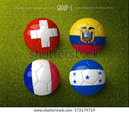 Brazil 2014, group E. (org. size: 3000x2500px) - stock photo