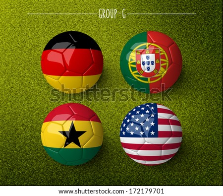 Brazil 2014, group G. (org. size: 3000x2500px) - stock photo