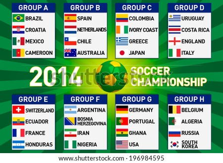 Brazil 2014 group stages - stock photo