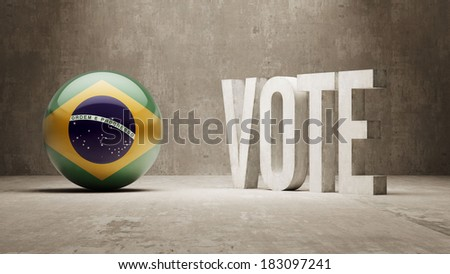 Brazil High Resolution Vote Concept - stock photo
