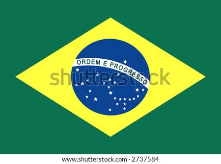 Brazil national flag - stock photo
