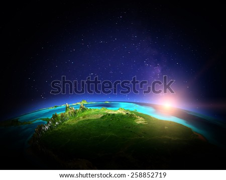 Brazilia. Elements of this image furnished by NASA