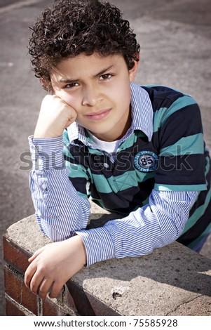 Brazilian boy - stock photo