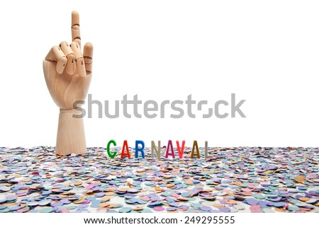 Brazilian Carnival, the number one. Carnival theme on white background  - stock photo