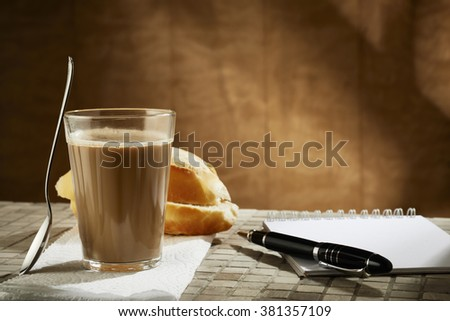 Brazilian coffee with milk
