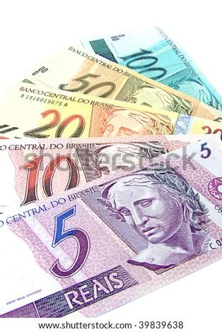 brazilian currency - stock photo