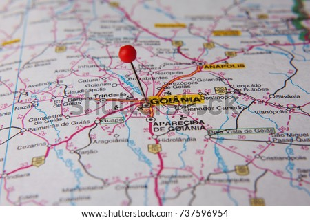 Brazilian Map Close Up City Goiania Stock Photo 737596954 Shutterstock