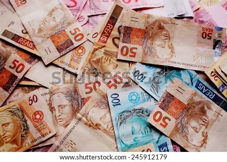 Brazilian money - stock photo