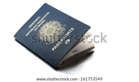 Brazilian Passport / A passport is a government-issued document that certifies the identity and nationality of its holder for the purpose of international travel. - stock photo