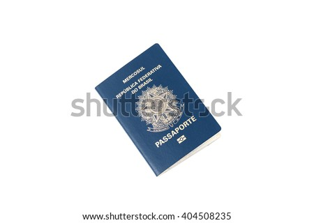 brazilian passport isolated on white background - stock photo