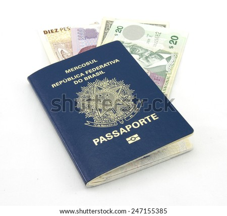 Brazilian passport with money