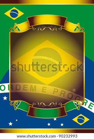 Brazilian poster. A background for you with the brazilian flag.