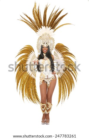 brazilian samba dancer - stock photo