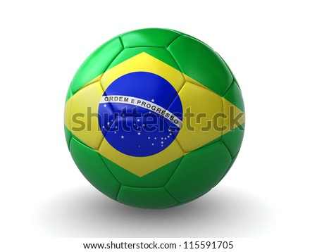 brazilian soccer ball - stock photo