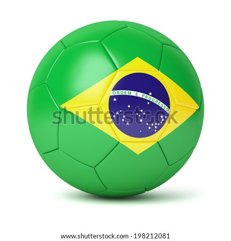 Brazilian soccer ball isolated on white background