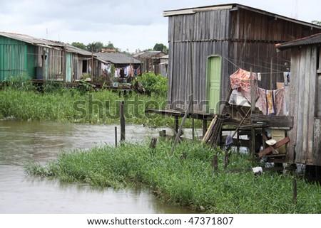 Brazillian village - stock photo