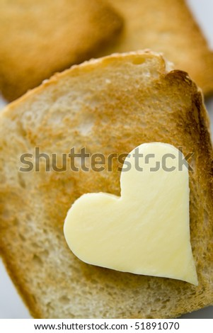 Bread and butter - stock photo