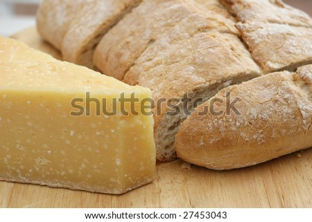 Bread and cheese - stock photo
