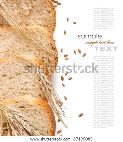 bread and ears on the table - stock photo