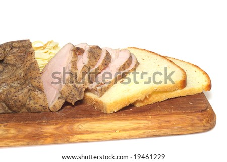bread and ham and cheese