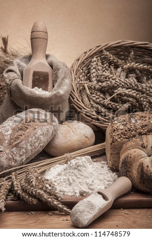 Bread and rolls traditional theme