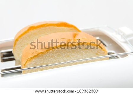 Bread and Toaster - stock photo