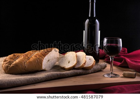 Bread and wine.