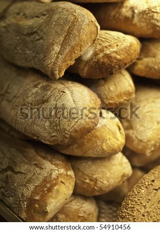 bread assortment background - stock photo