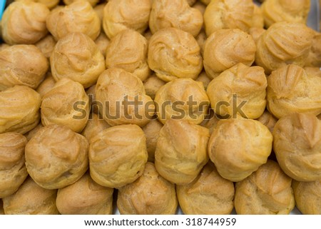Bread at street food in Thailand. - stock photo