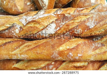 Bread background - stock photo