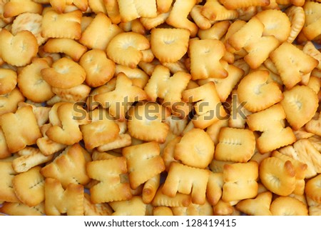Bread background in pattern of english alphabet