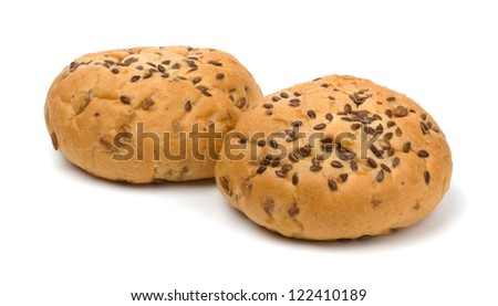 Bread buns isolated on white background