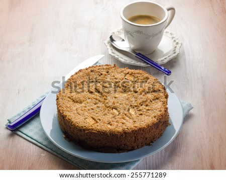 bread cake with apple  - stock photo