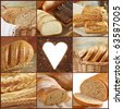 bread collection - stock photo