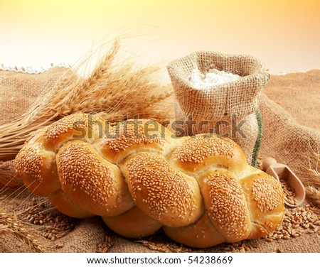 bread composition - stock photo
