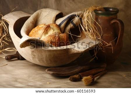 bread composition - stock photo