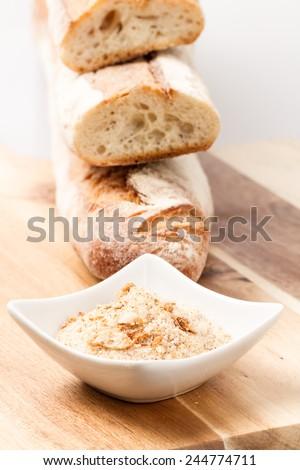 bread crumbs - stock photo