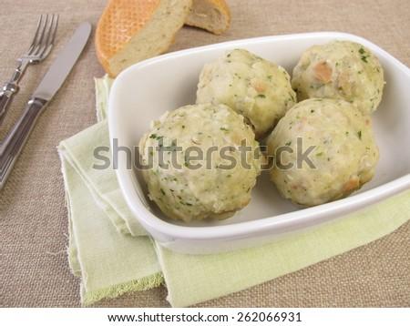 Bread dumplings - stock photo