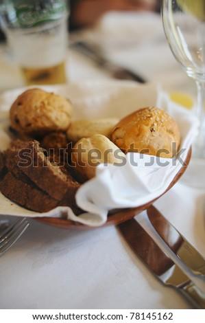 Bread for breakfast - stock photo