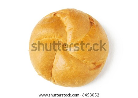 Bread for picnic. The top view. - stock photo