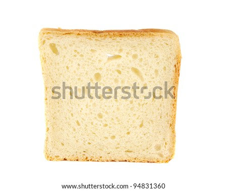 bread for toast isolated on white background - stock photo
