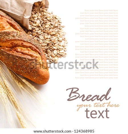 Bread from rye and wheat flour on white - stock photo