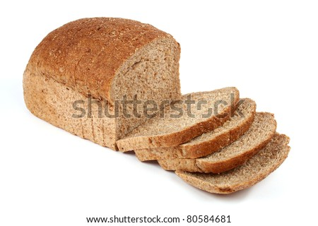 Bread from rye flour isolated on white background - stock photo