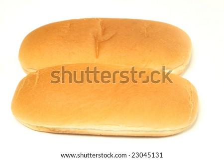 Bread hot dog isolated on white background - stock photo