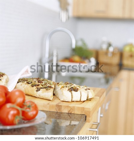 Bread in a kitchen. - stock photo