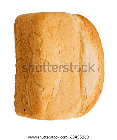 Bread is insulated on white background - stock photo